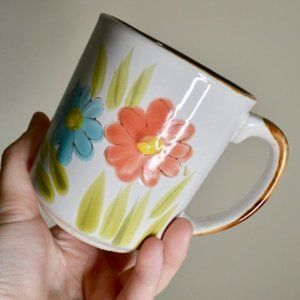 Vintage Floral Water Color Coffee Mug
